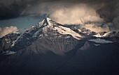 Monte Tresero im Abendlicht, Wolkenstimmung, Valfurva, Ortler Berge, Lombardei, Italien