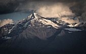 Monte Tresero in sunset light, cloudy mood, Valfurva, Ortler mountains, Lombardia, Italy
