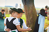 Kids, Traditional bavarian dance , Ammerland, bavaria, Germany