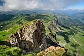 Blick vom Hohen Ifen, Hoher Ifen, Allgäuer Alpen, Walsertal, Vorarlberg, Österreich