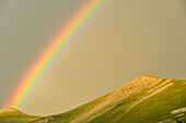Rainbow above ridge, National Park Ecrins, Dauphine, Dauphiné, Hautes Alpes, France