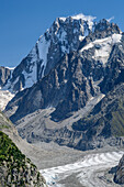 The Grandes Jorasses, of montenvers, Mont Blanc, Grajische Alps, the Savoy Alps, Savoie, France