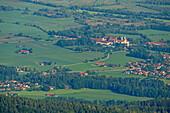 Deep views of the monastery Benediktbeuern, Benedict wall, Bavarian Alps, Upper Bavaria, Bavaria, Germany