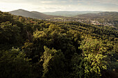 view from ruin Hohenbaden (Old Castle) at Baden-Baden, Baden-Wuerttemberg, Germany