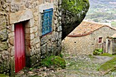 Rustic street and rocks of Monsanto, Castelo Branco, Portugal