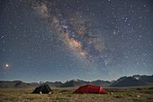 Milky Way over the Great Pamir Range of Afghanistan from our camp at Lake Zorkul, Tajikistan.