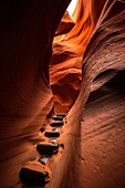 .Lower Antelope Canyon, Page, Navajo Nation, Arizona, USA.