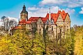 Czocha Castle (Zamek Czocha) is a defensive castle built on a hill, Sucha (Czocha), Lower Silesian Voivodeship, Poland, Europe.