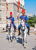 Changing of the guard. Royal Palace of Madrid, Spain.