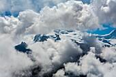 Monte Rosa peak (4634 meters). Zermatt. Swiss Alps. Valais. Switzerland. Europe.