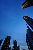 Sheikh Zayed Road, Hochhäuser, Financal Centre, Dubai, VAE, Vereinigte Arabische Emirate