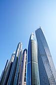 Architektur, Hochhäuser, Cayan Tower, Dubai Marina, Dubai, VAE, Vereinigte Arabische Emirate