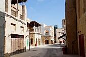 Häuser, Straße, Al Seef, Bur Dubai, Dubai, VAE, Vereinigte Arabische Emirate