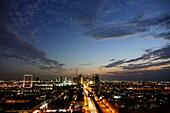 Night, Skyline, Burj Khalifa, The Frame, Sheikh Zayed Road, Dubai, UAE, United Arab Emirates