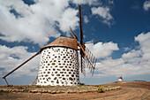windmills, Villaverde, La Oliva, Fuerteventura, Spain, Europe