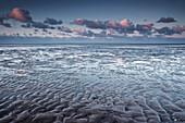 wadden sea, clouds, cumulus, Schillig, Wangerland, Friesland - district, Lower Saxony, Germany, Europe