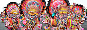 Dancers in motion, Masskara Festival, Bacolod, Bacolod, Negros Island, Philippines, Asia
