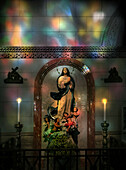 Madonna in Manila Cathedral, Intramuros, Manila, Manila, Philippines, Asia
