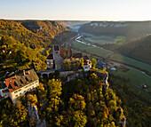 Werenwag Castle, Werenwag, Danube valley, Swabian Alb, Baden-Wuerttemberg, Germany