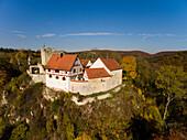 Castle ruin Burg Derneck, Hayingen, Big Lauter Valley,  Swabian Alb, Baden-Wuertemberg, Germany