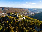 Ruin Hohenurach, Bad Urach, Swabian Alb, Baden-Wuerttemberg, Germany