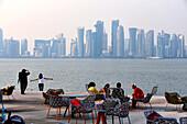 View from Museum of Islamic Art at Corniche, Doha, Qatar