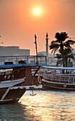 SSonnenuntergang unset at the Corniche, Doha, Qatar