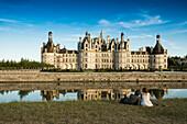 Chambord Castle, North Facade, UNESCO World Heritage Site, Chambord, Loire, Department Loire et Cher, Centre Region, France