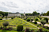 Chenonceau Castle on the Cher, Château de Chenonceau, Department Chenonceaux, Indre-et-Loire, Center Region, France