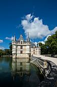Chateau Azay-le-Rideau, Renaissance-Schloss an der Loire, UNESCO-Weltkulturerbe, Département Indre-et-Loire, Frankreich