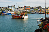 Boats in port, Guilvinec, Finistere, Brittany, France