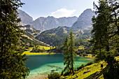 Seebensee mit Vorderem Drachenkopf, Mieminger Gebirge, Alpen, Tirol, Österreich