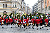 Traditional bavarian dance, Schäfflertanz, Munich, Upper Bavaria, Germany, Europe