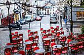 Strassenrestaurant, Montmartre, Paris, Frankreich, Europa