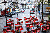 Street restaurant, Montmartre, Paris, France, Europe