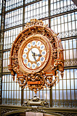 Big clock in the Museum d'Orsay, Paris, France, Europe