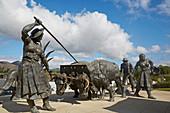 Sculpture Memórias do Campo, Ponte de Lima, District Viana do Castelo, Portugal, Europe