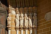 Sculptures of apostles at Évora Cathedral, Sé, Unesco World Heritage, District Évora, Alentejo, Portugal, Europe