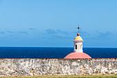 Atlantic view, Chapel del Cementerio Santa María, San Juan, Puerto Rico, Caribbean, USA