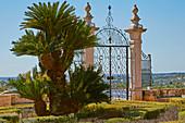 Terrace Patamar da Casa do Presépio, Fountain, Palácio de Estói, Pousada, Estói, District Faro, Region of Algarve, Portugal, Europe