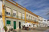 Beja, Tiled houses at Praca da República, District Beja, Region of Alentejo, Portugal, Europe