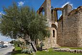 Aqueduct, Arabian Water wheel, Nora, City-wall, Serpa, District Beja, Region of Alentejo, Portugal, Europe