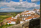 Rooftop architecture at Monsaraz, District Évora, Region of Alentejo, Portugal, Europe