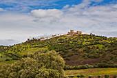 View at the village of Monsaraz, District Évora, Region of Alentejo, Portugal, Europe