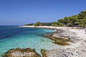 Strand auf der Insel Dugi Otok, Veli Rat, Zadar, Norddalmatien, Dalmatien, Kroatien, Südeuropa, Europa