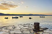 Blick von Glavotok auf der Insel Krk zur Insel Cres und die Kvarner Bucht, Primorje-Gorski kotar, Nordkroatien, Kroatien, Südeuropa, Europa