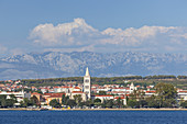 Old town of Zadar in front of the mountains of the Velebit,  North Dalmatia, Dalmatia, Croatia, Southern Europe, Europe