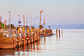 Harbour in Meersburg on lake Constance, Baden, Baden-Wuerttemberg, South Germany, Germany, Central Europe, Europe
