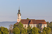 Monastery Birnau on lake Constance, Uhldingen-Mühlhofen, Baden, Baden-Wuerttemberg, South Germany, Germany, Central Europe, Europe