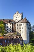Castle Meersburg on lake Constance, Meersburg,  Baden, Baden-Wuerttemberg, South Germany, Germany, Central Europe, Europe